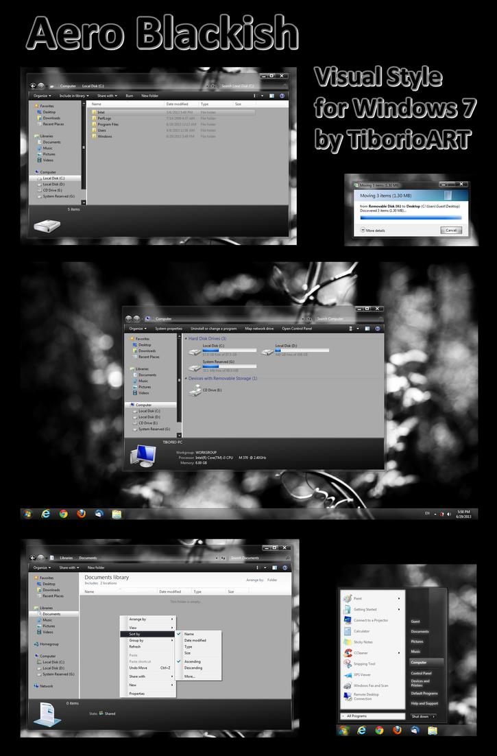 Aero Blackish for Windows 7 by TiborioART