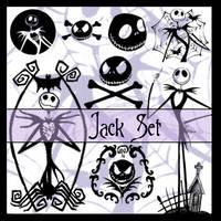 Brushes - Jack Skellington Set by PinkBassist3