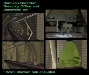Romulan Corridor by mdbruffy