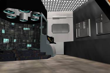 Romulan Transporter Room by mdbruffy
