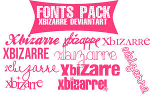 Pack Fonts by xBizarre
