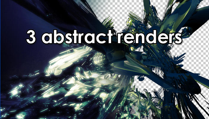 3 Abstract Render Pack by QaysA