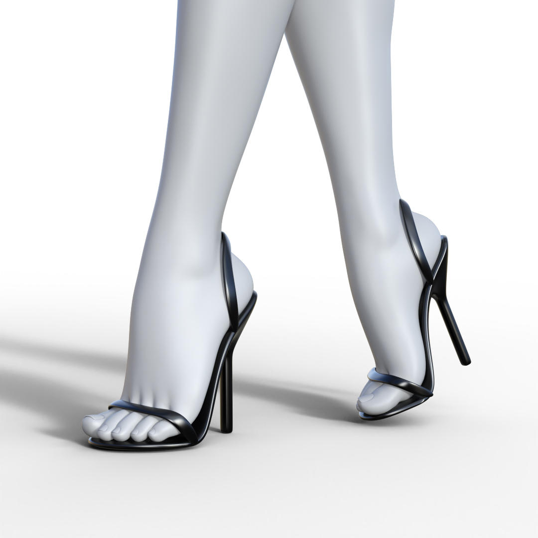 Minimalist Sandal Heels for G8F Daz Studio --- DL by TritiumCG