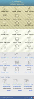 Free Footer Icons.