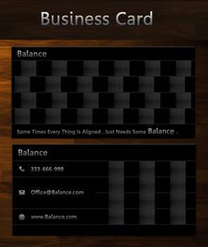 Balance free business card