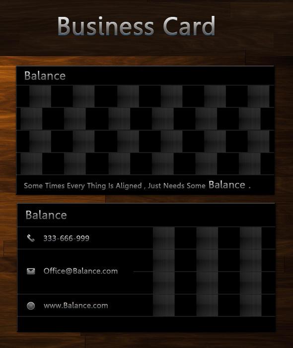 Balance free business card by SameehShkeer