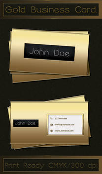 Gold Business Card , Free PSD.