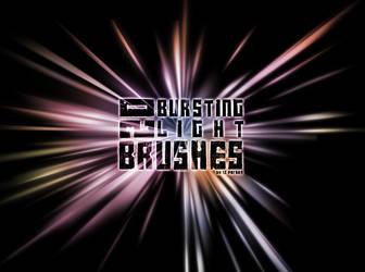 20 Bursting Light Brushes by IZ-Person