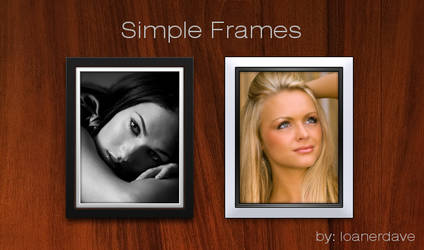 Simple Photo Frames by loanerdave