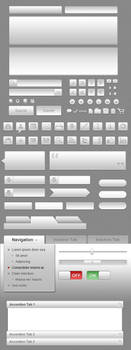Gray UI Icon Set