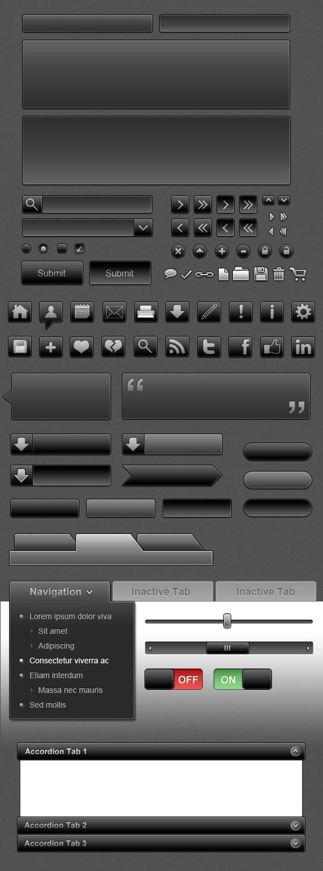 Black UI Icon Set