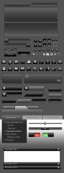 Black UI Icon Set