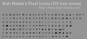 151 Tiny Pixel Icons