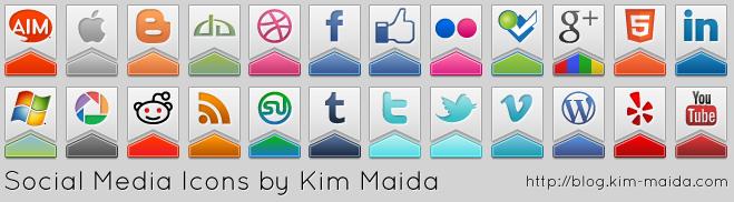 Social Media Icons by KimMaida