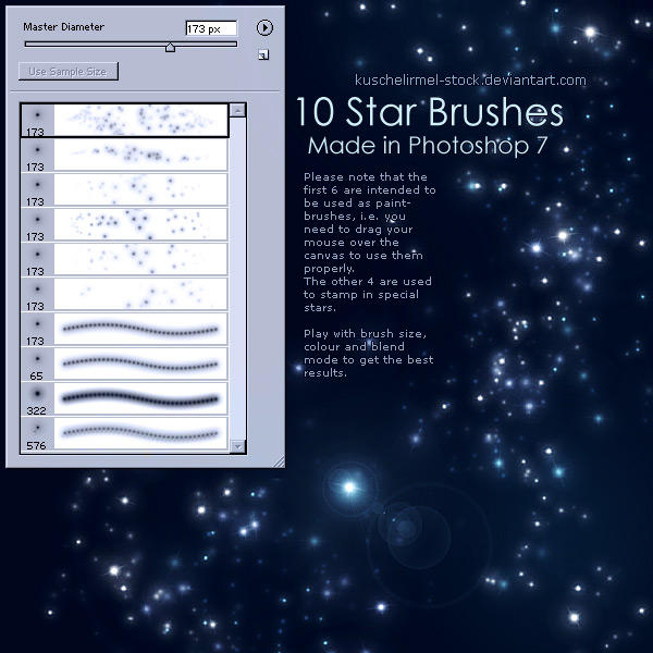 Star Brushes by kuschelirmel-stock