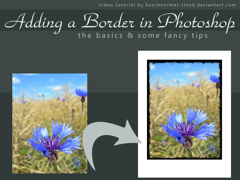 Adding Borders in Photoshop