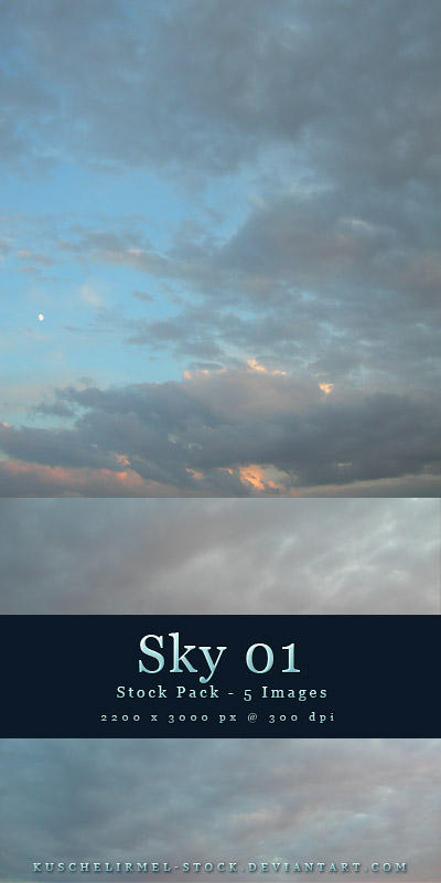 Sky 01 - Stock Pack by kuschelirmel-stock