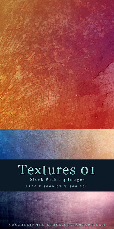 Textures 01 - Stock Pack by kuschelirmel-stock