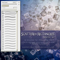 Scattered Rectangles Brush Set by kuschelirmel-stock
