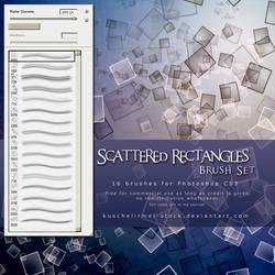 Scattered Rectangles Brush Set