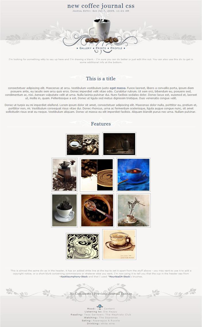 Coffee Journal CSS by kuschelirmel-stock