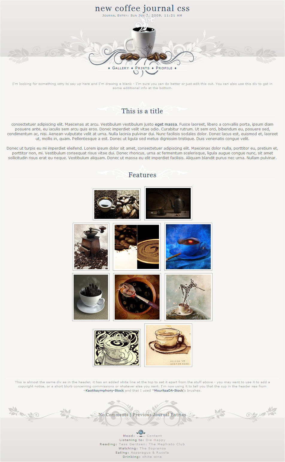 Coffee Journal CSS by kuschelirmel-stock