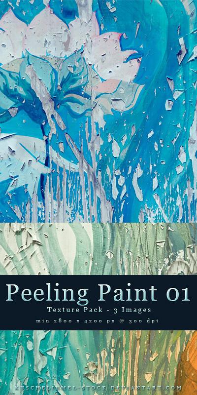Peeling Paint Texture Pack 01 by kuschelirmel-stock