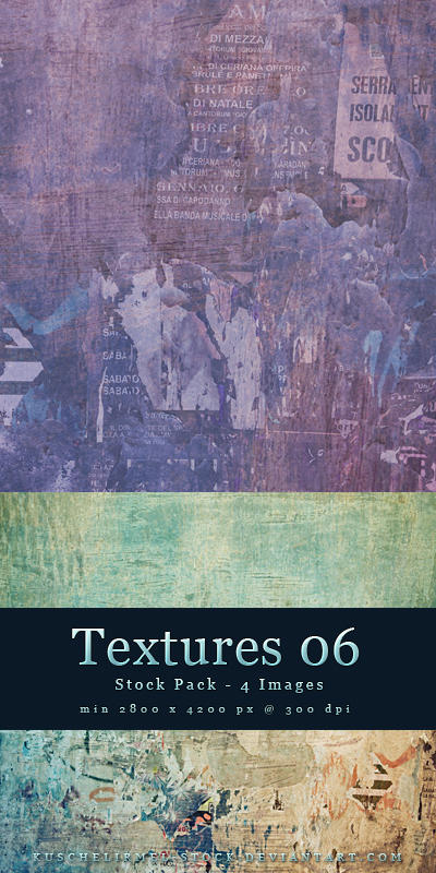 Textures 06 - Stock Pack by kuschelirmel-stock