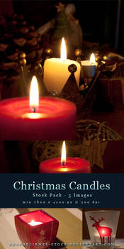 Christmas Candles - Stock Pack