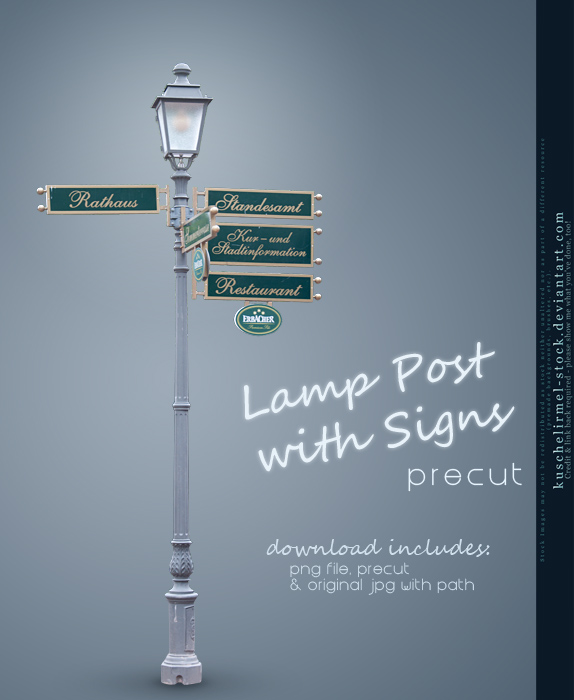 Lamp Post with Signs