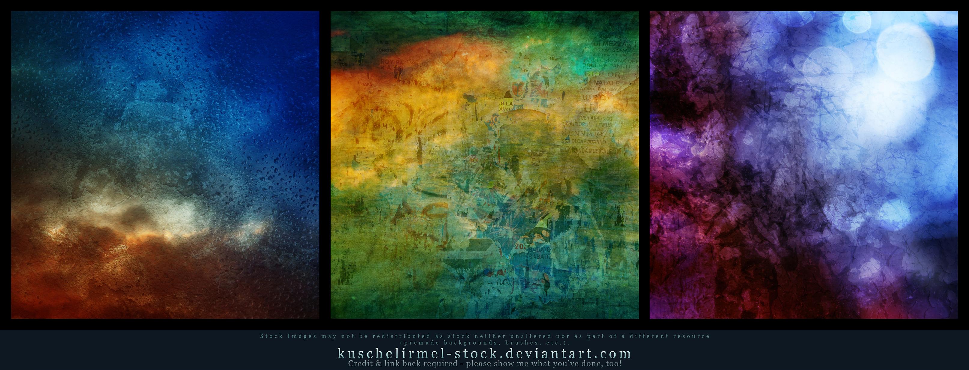 1-2-3 Textures by kuschelirmel-stock