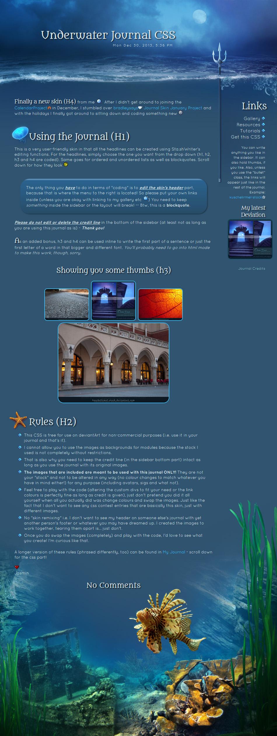 Underwater CSS by kuschelirmel-stock