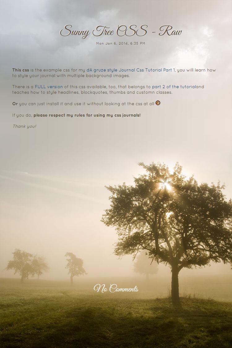 Sunny Tree RAW by kuschelirmel-stock