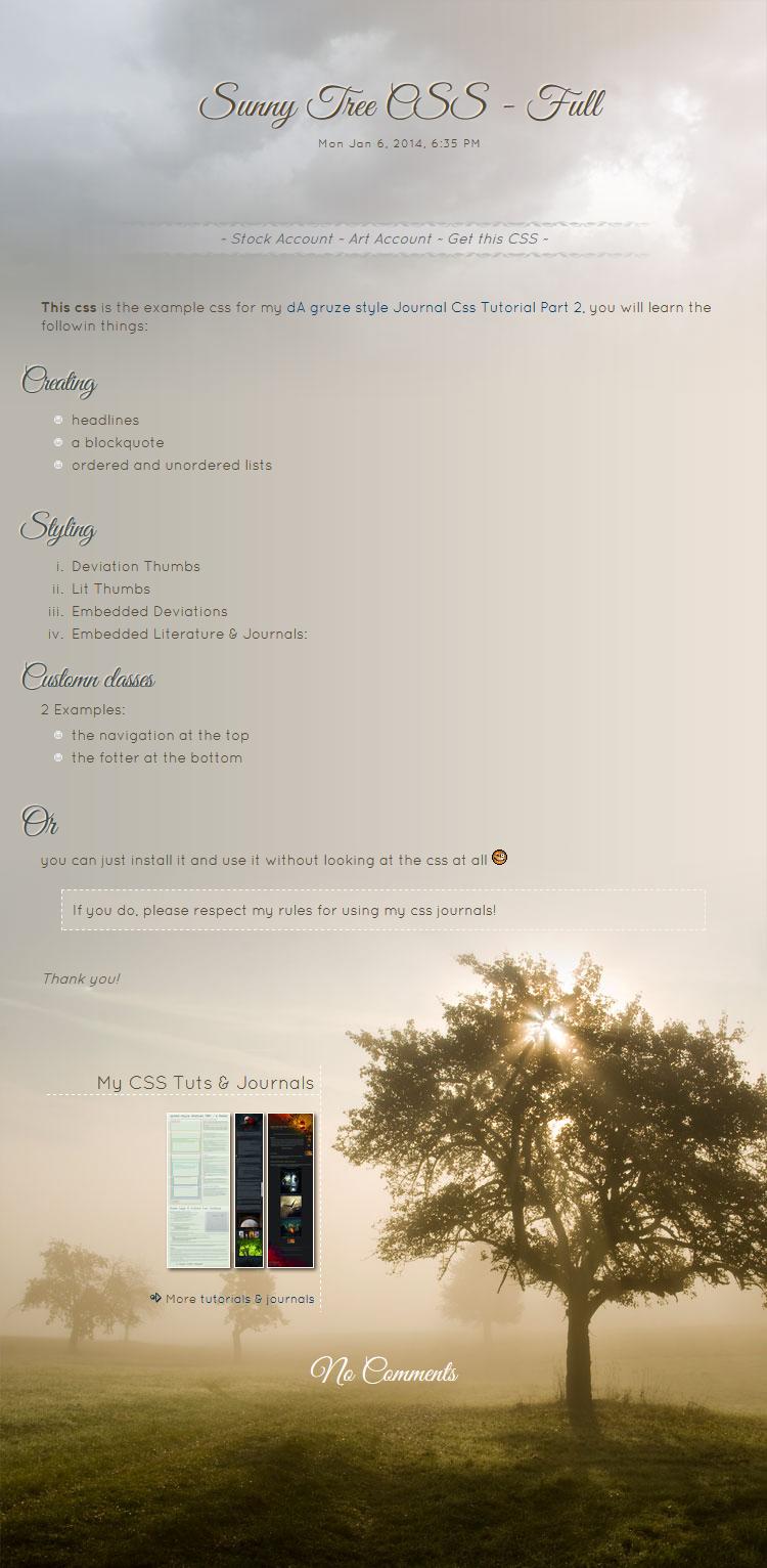 Sunny Tree FULL by kuschelirmel-stock
