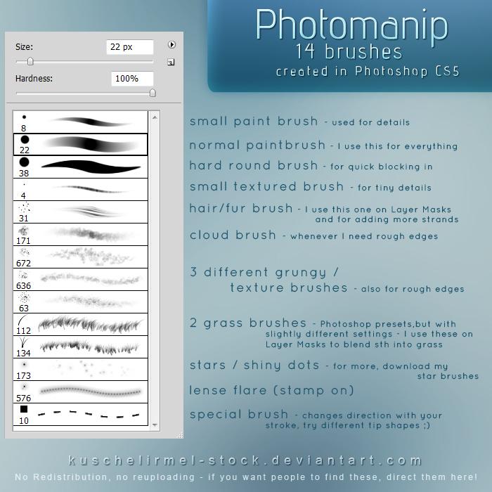Photomanipulation Brushes