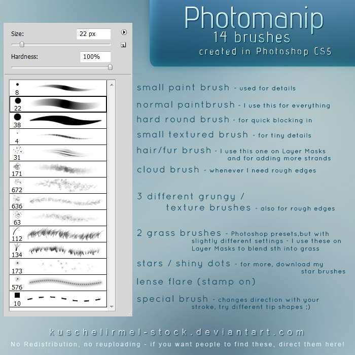 Photomanipulation Brushes by kuschelirmel-stock
