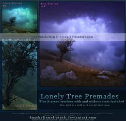 Lonely Tree Premade by kuschelirmel-stock