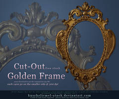 Golden Frame Cut Out by kuschelirmel-stock