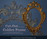 Golden Frame Cut Out