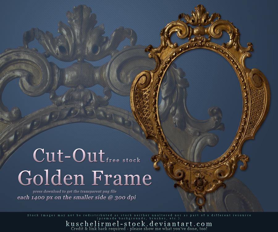 Golden Frame Cut Out by kuschelirmel-stock