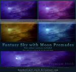 Fantasy Sky with Moon by kuschelirmel-stock