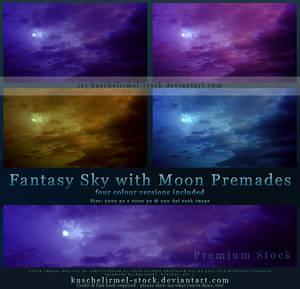 Fantasy Sky with Moon