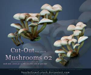 Cut Out Mushrooms Pack 02 by kuschelirmel-stock