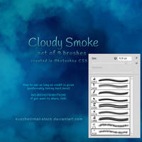 Cloudy Smoke Brushes by kuschelirmel-stock