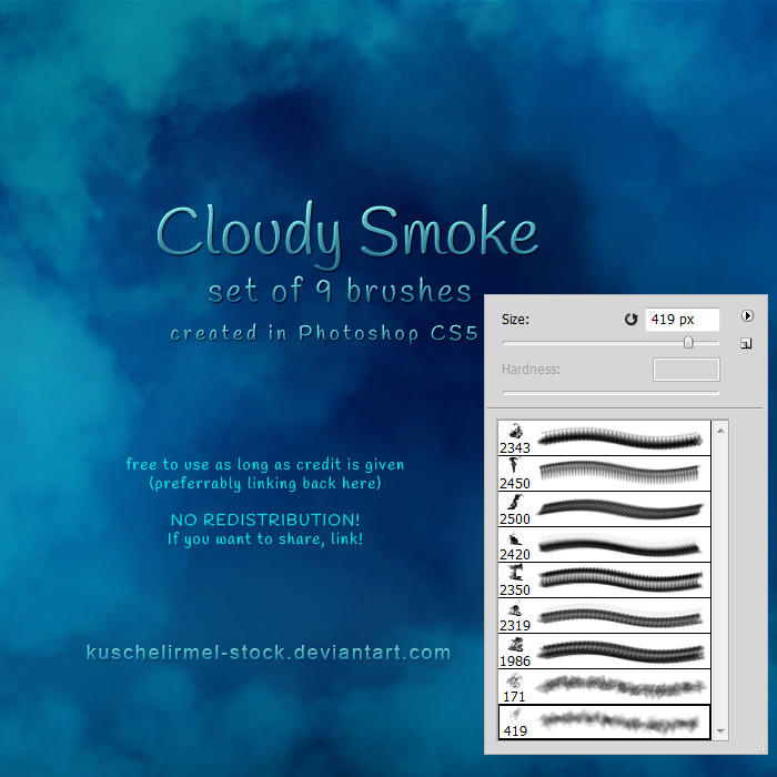 Cloudy Smoke Brushes