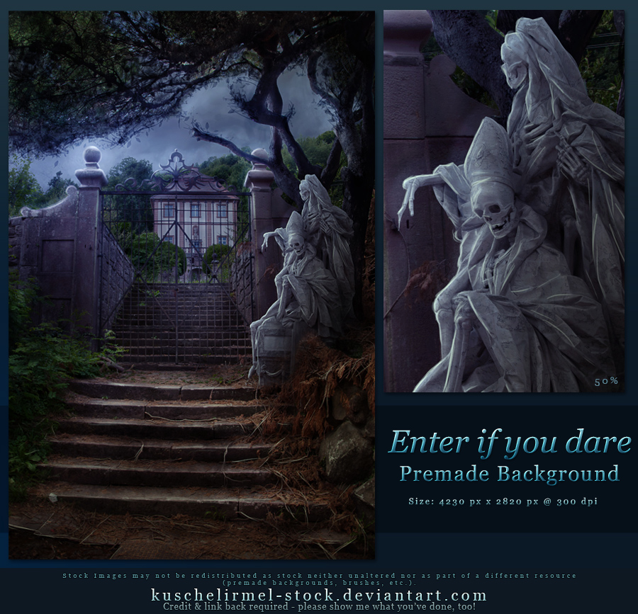 Enter if you dare - Free Premade Background