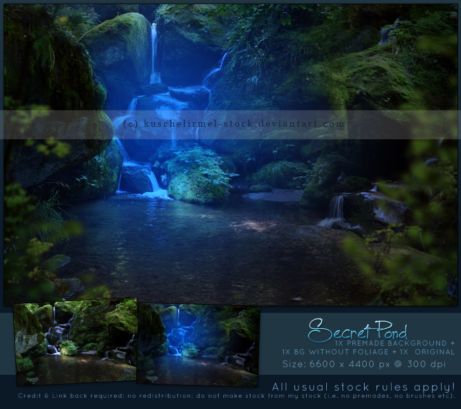 Secret Pond Premade By Kuschelirmel Stock By Kuschelirmel Stock On Deviantart