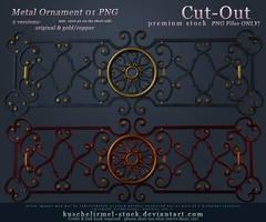 Metal Ornament 01 Cut-Out PNG PREMIUM