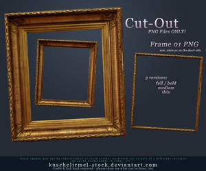 Frame 01 Cut-Out PNG by kuschelirmel-stock