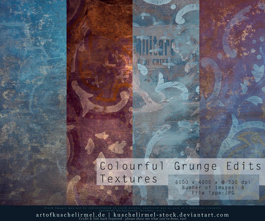 Colourful Grunge Edits Textures by kuschelirmel-stock
